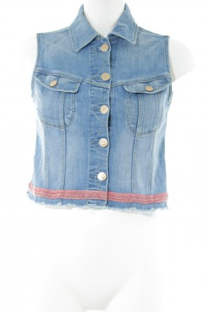 Lee Jeansweste blau-rot Casual-Look
