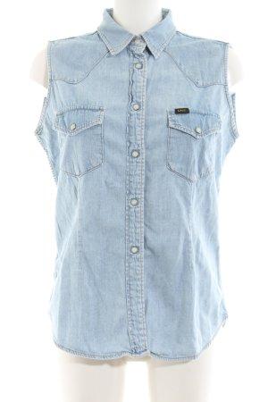 Lee Denim Vest blue casual look