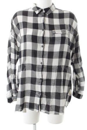 Lee Langarmhemd schwarz-weiß Karomuster Casual-Look