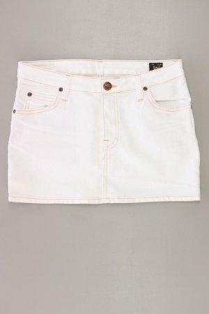 Lee Mini-jupe blanc cassé coton