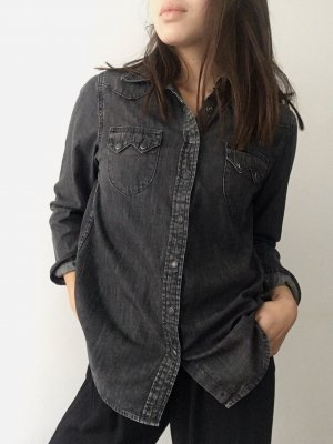 Lee Denim Shirt black-grey cotton