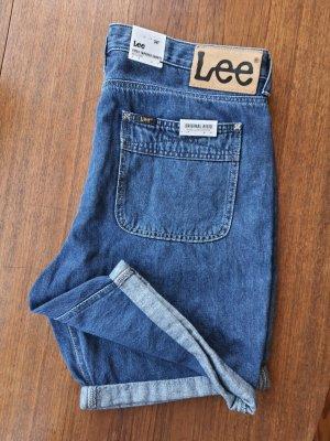 Lee Pantalón corto de tela vaquera azul acero