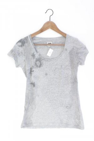 Lee Printshirt Größe XS Kurzarm grau aus Baumwolle