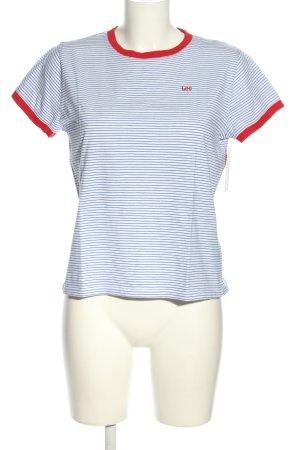 Lee T-shirt rayé bleu-blanc motif rayé style décontracté