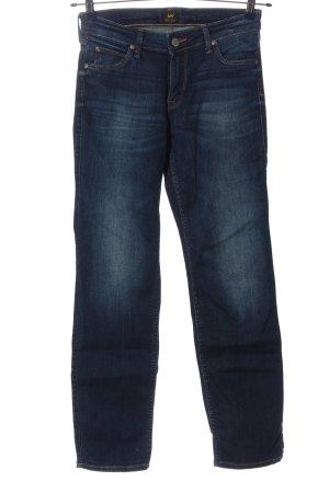 Lee Jeansy o obcisłym kroju niebieski W stylu casual