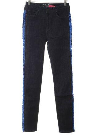 Lee Skinny Jeans dunkelblau Paillettenverzierung