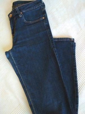 Lee Jeansy o obcisłym kroju niebieski