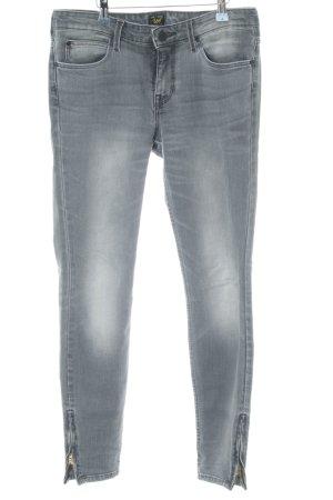 Lee Skinny Jeans grau-weiß Casual-Look
