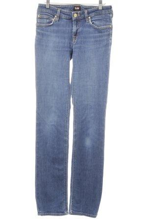 Lee Jeansy o obcisłym kroju stalowy niebieski W stylu casual