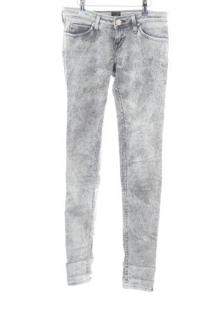 Lee Slim Jeans weiß-hellgrau Allover-Druck Casual-Look