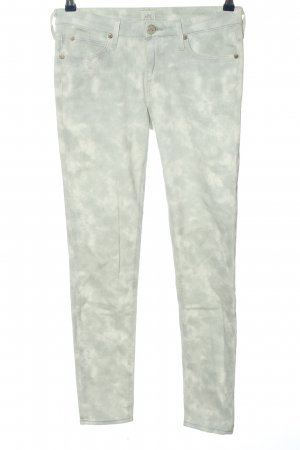 Lee Slim Jeans hellgrau-wollweiß Camouflagemuster Casual-Look