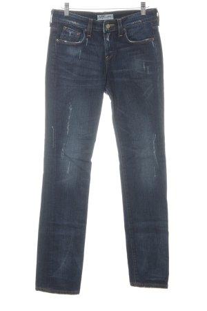 Lee Slim Jeans blau Used-Optik