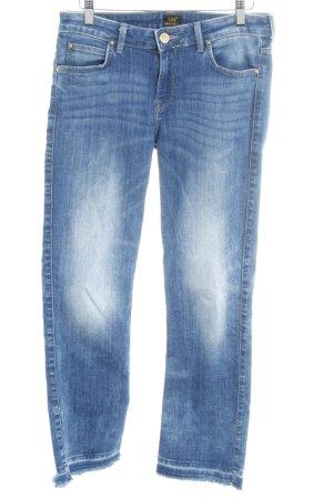 Lee Slim Jeans stahlblau-weiß Casual-Look