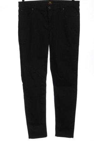 Lee Spodnie materiałowe czarny W stylu casual