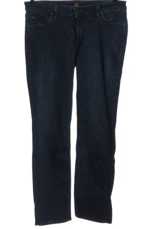 Lee Jeansy z prostymi nogawkami niebieski W stylu casual