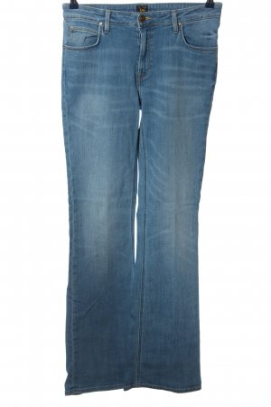 Lee Straight-Leg Jeans blau Street-Fashion-Look