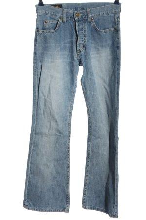 Lee Straight-Leg Jeans blau Street-Fashion-Look