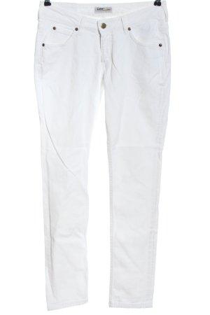 Lee Jeansy z prostymi nogawkami biały W stylu casual