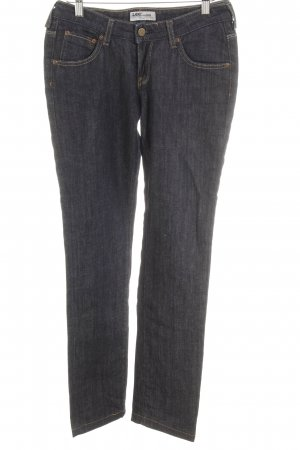 Lee Jeansy z prostymi nogawkami ciemnoniebieski Bawełna