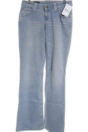 Lee Jeansy z prostymi nogawkami jasnoniebieski-biały Wygląd w stylu miejskim