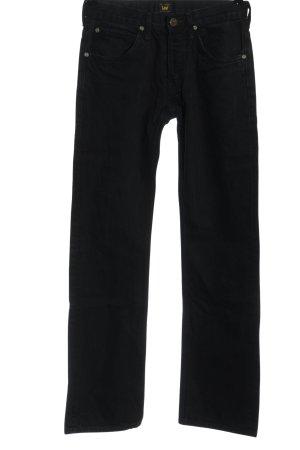 Lee Jeansy z prostymi nogawkami czarny W stylu casual