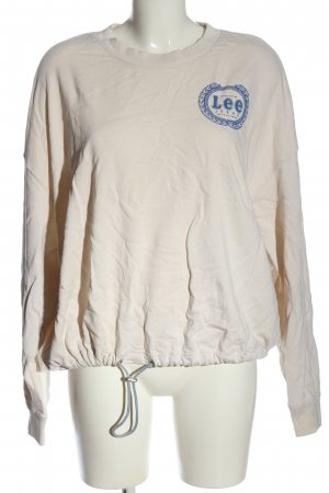 Lee Sweat Shirt natural white-blue casual look