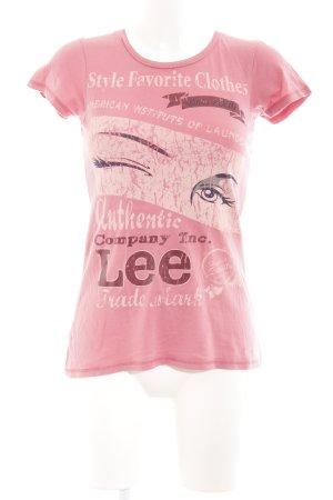 Lee T-Shirt rosa Motivdruck Casual-Look