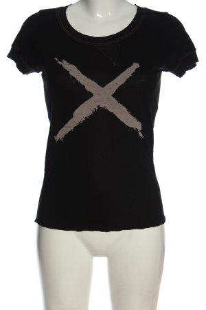 Lee T-shirt czarny-brązowy Nadruk z motywem W stylu casual