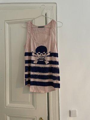 Lee Top na ramiączkach jasny różowy-ciemnoniebieski
