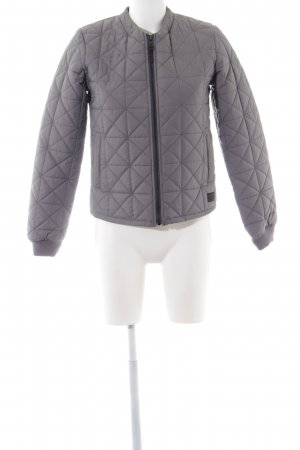 Lee Übergangsjacke silberfarben Steppmuster Casual-Look