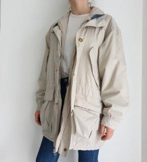 Lefrog beige True Vintage 48 50 Jacke Übergangsjacke Mantel Trenchcoat Oversize Trench Coat