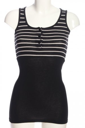Lefties Long Top black-white striped pattern casual look