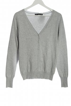Lefties Cardigan light grey flecked casual look