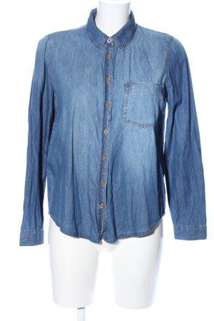 Lefties Jeansbluse blau Farbverlauf Casual-Look