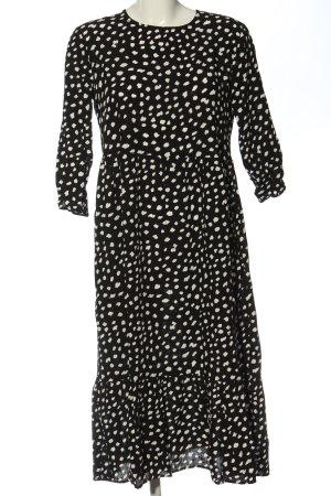 Lefties Shortsleeve Dress black-white abstract pattern elegant