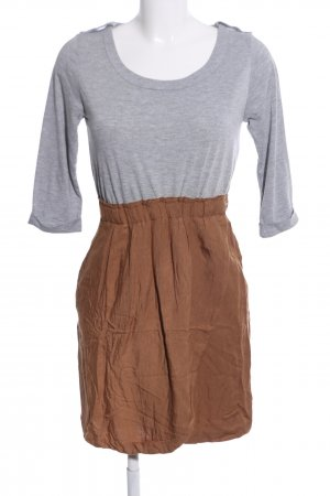 Lefties Minikleid hellgrau-bronzefarben meliert Casual-Look