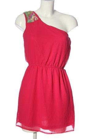 Lefties Sukienka na jedno ramię czerwony-zielony Nadruk z motywem