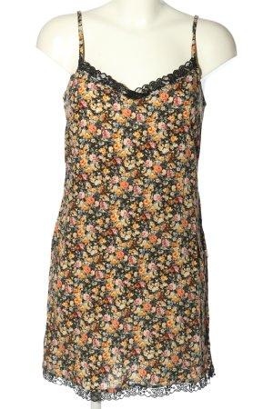 Lefties Pinafore dress flower pattern casual look