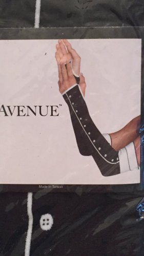 Leg Avenue, Armstulpen, Style 2110, schwarz/weiß, One-Size