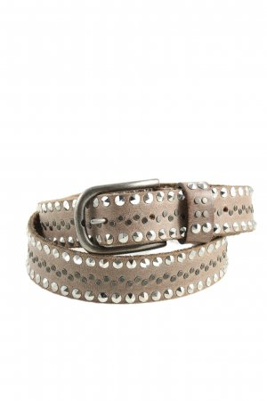 Legend Leather Belt brown-silver-colored casual look