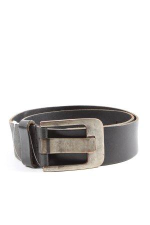 Legend Faux Leather Belt black casual look