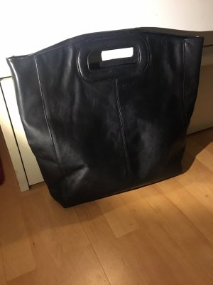 Legend Tasche Shopper Schultertasche schwarz Leder neu mit Rechnung