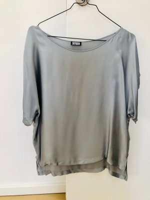Drykorn Silk Top light grey-silver-colored
