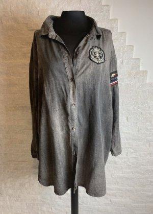 Lindsay Moda Cols de blouses gris foncé