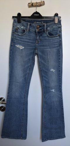 American Eagle Outfitters Jeans svasati multicolore Cotone