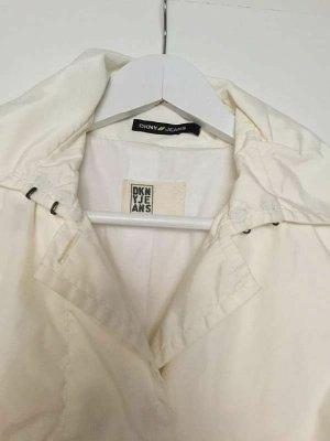 Legere Jacke / kurzer Trenchcoat / Regenmantel von DKNY weiß