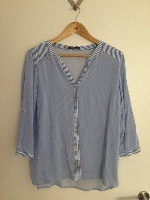 Cecil Short Sleeved Blouse white-cornflower blue