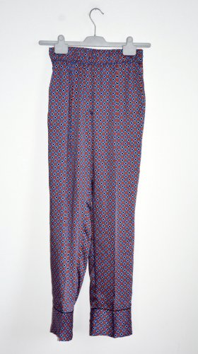 Sandro Boyfriendbroek blauw-donkerrood Polyester