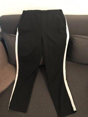 Opus Pantalone jersey nero-bianco