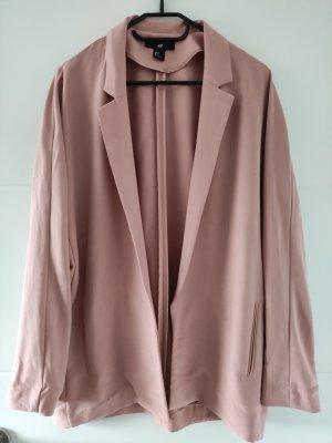 H&M Long Blazer pink-dusky pink